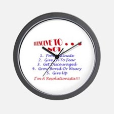 Funny New year resolution Wall Clock