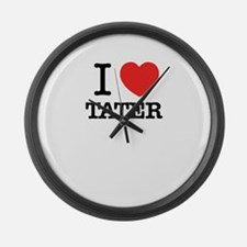 I Love TATER Large Wall Clock