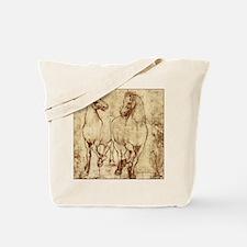 Leonardo da Vinci 2 horses Tote Bag