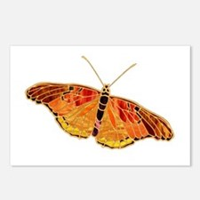 Orange-Gold Butterfly Postcards (Package of 8)