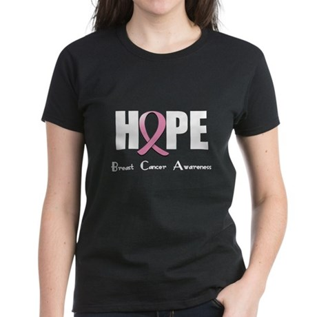 Hope-Breast Cancer Women's Dark T-Shirt