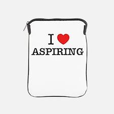 I Love ASPIRING iPad Sleeve