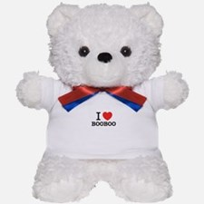 I Love BOOBOO Teddy Bear