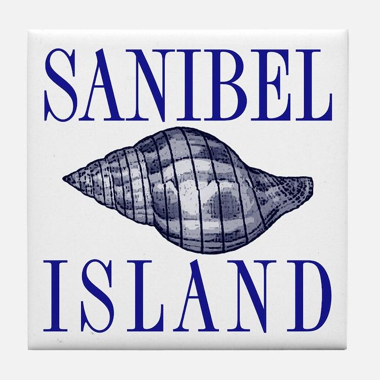 Sanibel Island Shell - Tile Coaster