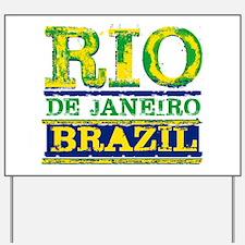 Rio De Janeiro Brazil Yard Sign