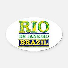 Rio De Janeiro Brazil Oval Car Magnet