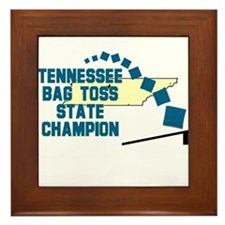 Tennessee Bag Toss State Cham Framed Tile