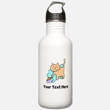 Cat And Food (Custom) Water Bottle