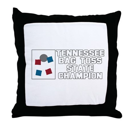 Tennessee Bag Toss State Cham Throw Pillow
