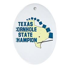 Texas Cornhole State Champion Oval Ornament