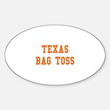 Texas Bag Toss Oval Decal