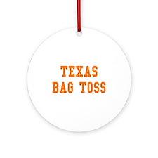 Texas Bag Toss Ornament (Round)