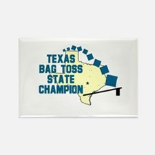 Texas Bag Toss State Champio Rectangle Magnet