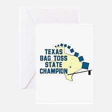 Texas Bag Toss State Champio Greeting Cards (Pk o