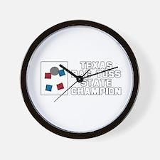 Texas Bag Toss State Champion Wall Clock