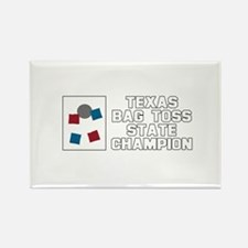 Texas Bag Toss State Champion Rectangle Magnet