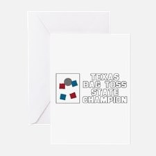 Texas Bag Toss State Champion Greeting Cards (Pk o