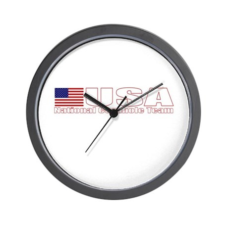 USA National Cornhole Team Wall Clock