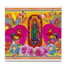 Our Lady of Color Tile Coaster