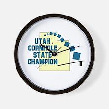 Utah Cornhole State Champion Wall Clock