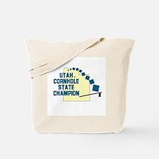 Utah Cornhole State Champion Tote Bag