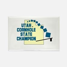Utah Cornhole State Champion Rectangle Magnet