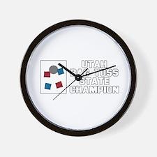 Utah Bag Toss State Champion Wall Clock