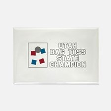 Utah Bag Toss State Champion Rectangle Magnet