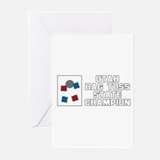 Utah Bag Toss State Champion Greeting Cards (Pk of
