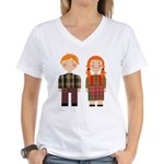 Raggedy Ann and Andy Women's V-Neck T-Shirt
