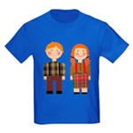 Raggedy Ann and Andy Kids Dark T-Shirt