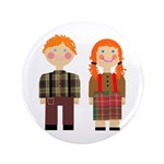 "Raggedy Ann and Andy 3.5"" Button (100 pack)"