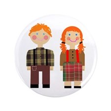 "Raggedy Ann and Andy 3.5"" Button"