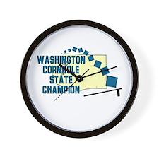 Washington Cornhole State Cha Wall Clock