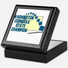 Washington Cornhole State Cha Keepsake Box