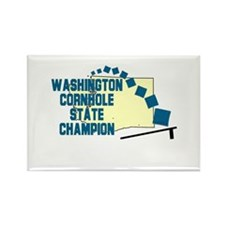 Washington Cornhole State Cha Rectangle Magnet
