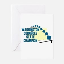 Washington Cornhole State Cha Greeting Cards (Pk o