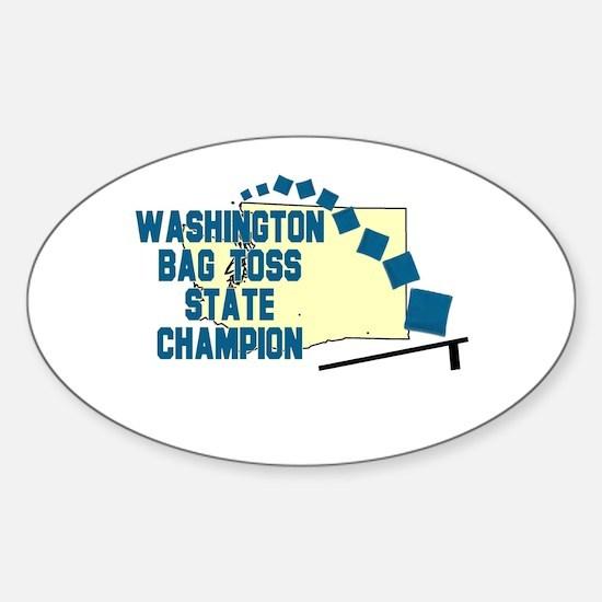 Washington Bag Toss State Cha Oval Decal