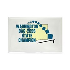 Washington Bag Toss State Cha Rectangle Magnet
