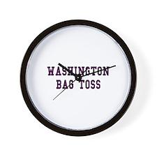 Washington Bag Toss Wall Clock