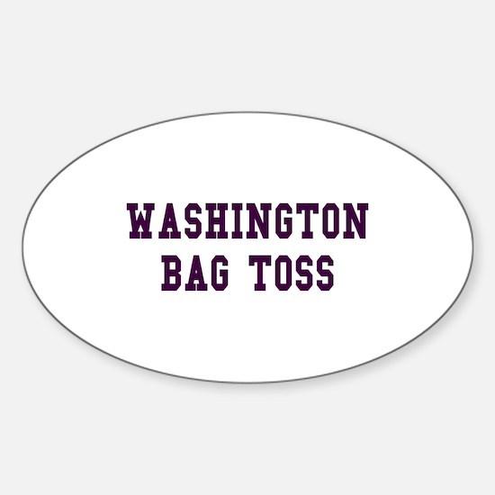 Washington Bag Toss Oval Decal