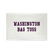 Washington Bag Toss Rectangle Magnet
