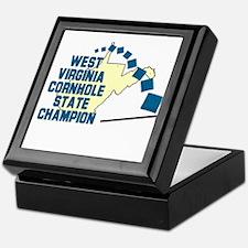 West Virginia Cornhole State Keepsake Box