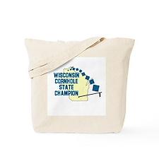 Wisconsin Cornhole State Cham Tote Bag