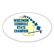 Wisconsin Cornhole State Cham Oval Decal