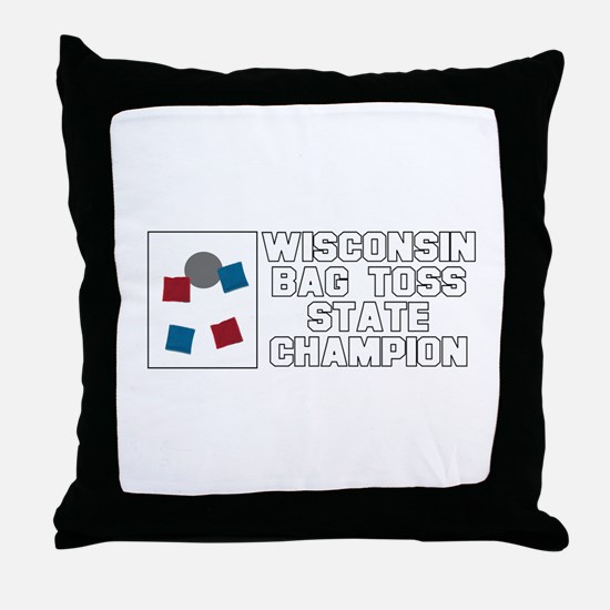 Wisconsin Bag Toss State Cham Throw Pillow