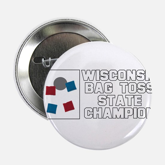 """Wisconsin Bag Toss State Cham 2.25"""" Button"""