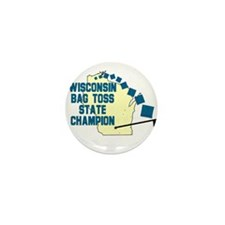 Wisconsin Bag Toss State Cham Mini Button (10 pack