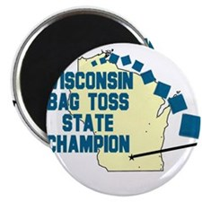 """Wisconsin Bag Toss State Cham 2.25"""" Magnet (10 pac"""