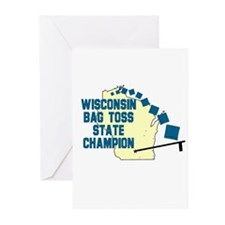 Wisconsin Bag Toss State Cham Greeting Cards (Pk o